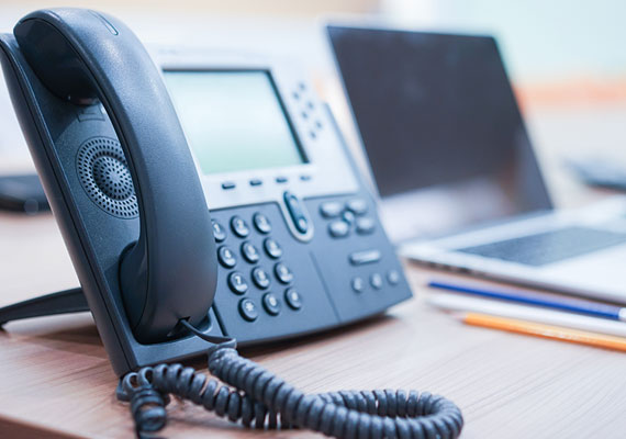 Picture of a VoIP phone